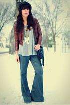 Charlotte Russe jacket - asos pants - Forever 21 hat