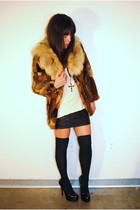 vintage jacket - Forever 21 skirt - Forever 21 shoes