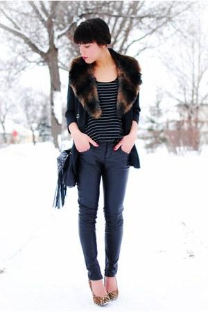 Forever 21 blazer - Qupid shoes - Forever 21 blouse - Forever 21 pants