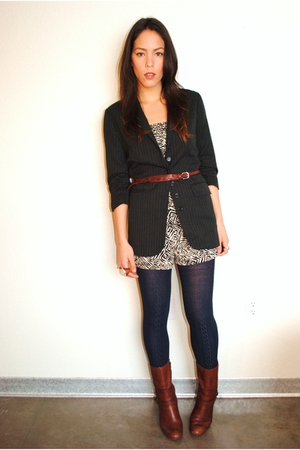 Forever 21 blazer - Forever 21 shorts - Miss Sixty boots