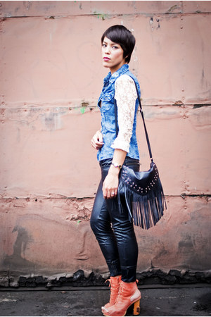 Romwecom top - Jeffrey Campbell boots - H&M bag - Forever 21 pants