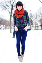 Forever 21 scarf - shirt - Forever 21 jeans - Forever 21 shoes