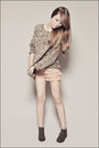 Tan-forever-21-sweater-light-orange-forever-21-shorts-dark-brown-forever-21-