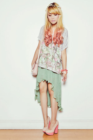 green clothes for the goddess skirt - pink Forever 21 bag