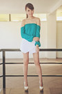 White-origami-apartment-8-shorts-white-michael-antonio-heels