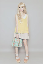 Aldo bag - Asian Vogue shoes - frou frou top - frou frou skirt