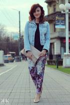 neutral H&M flats - navy Zara sweater - peach Accessorize purse