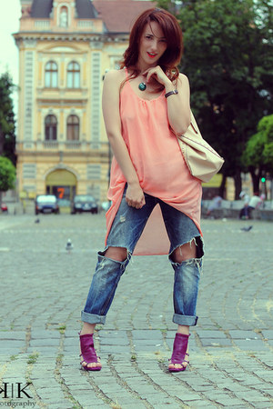 Sheinsidecom dress - Zara jeans - Mango bag