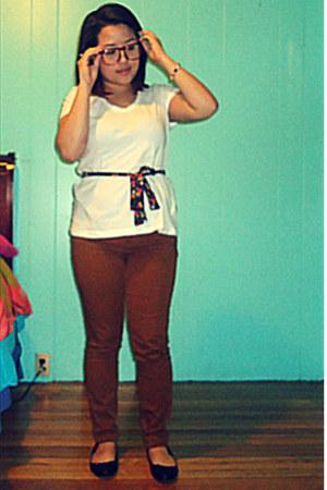plastic H&M glasses - H&M shirt - Forever 21 pants