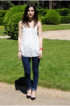 Forever 21 shirt - BLANCO jeans - Zara heels