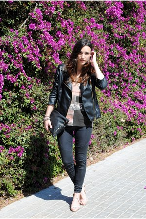 Zara pants - Stradivarius jacket - Bershka shirt - Lefties bag - Zara heels