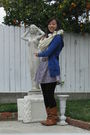 Beige-hollister-scarf-white-unknown-brand-top-blue-american-eagle-cardigan-
