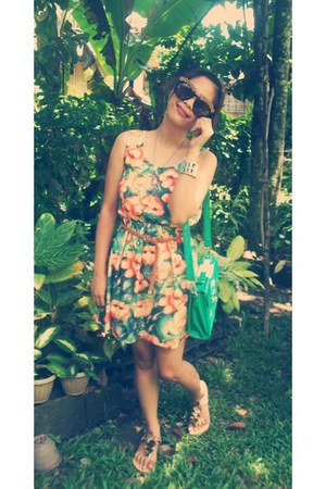 flower sunglasses - sandals