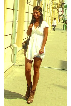 Bershka boots - H&M dress - handmade bag