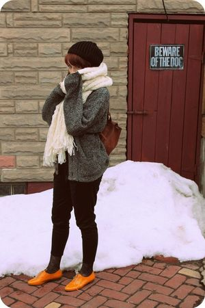 vintage cardigan - holy-g scarf - samantha pleet for UO pants - dunno tights - J