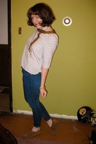 Dear Creatures top - Blank Denim jeans - Clarks shoes - modcloth necklace - modc