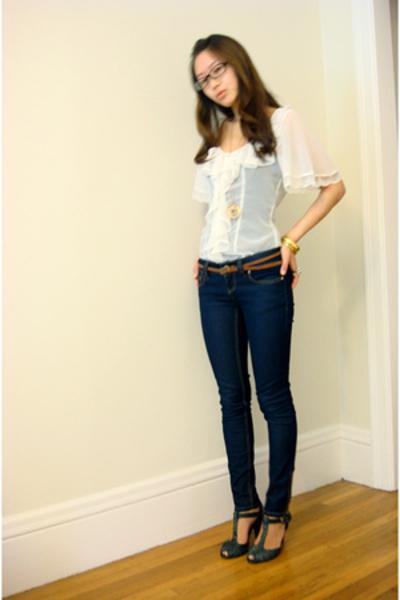 Arden B blouse - Arden B jeans - forever 21 belt
