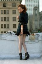 black Forever 21 skirt - black Steve Madden boots