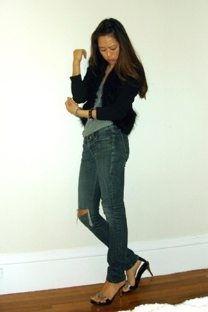 top - American Apparel t-shirt - Express jeans - doll house shoes