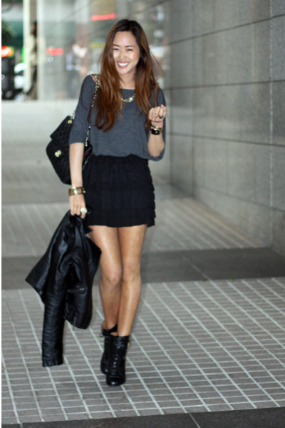 top - skirt - boots