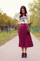asos skirt - asos sweater - Marc by Marc Jacobs bag - Gucci heels