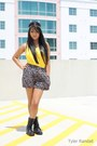 Combat-boots-charlotte-russe-boots-floral-american-rag-shorts-yellow-weavers