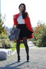 Black-leather-joie-boots-red-zara-coat-black-striped-h-m-tights