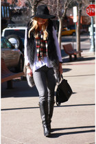 Forever 21 hat - Old Navy jeans - Celine bag - BCBG t-shirt