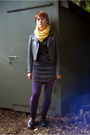 Deep-purple-urban-outfitters-tights-black-thrift-dress-charcoal-gray-frenchi