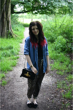 denim shirt shirt - chancery bag vivienne westwood bag