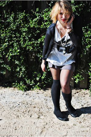 white GINA TRICOT t-shirt - black Jette Riis shoes - Primark socks