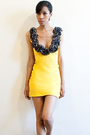 yellow funkylobes dress