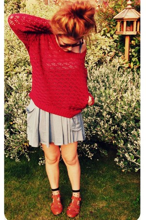 Topshop dress - Urban Outfitters socks - Urban Outfitters jumper - Urban Outfitt