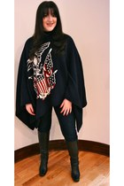black riding boots etienne aigner boots - navy skinny dl1961 jeans