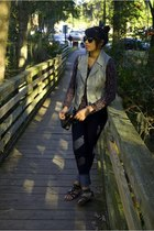 jeans - vest - shoes - purse - sunglasses - shirt