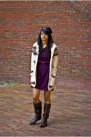 dress - boots - jacket - belt - accessories