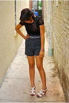blouse - shorts - belt - shoes