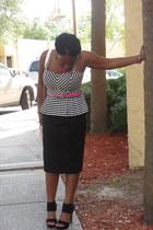 Lipsy shirt - pencil skirt asos skirt - studded heel Michael Kors heels