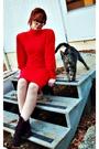 Red-80s-vintage-dress