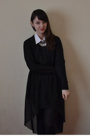 black Love skirt - white M&amp;S shirt - black H&amp;M jumper