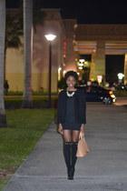 black H&M cardigan - neutral JustFab bag