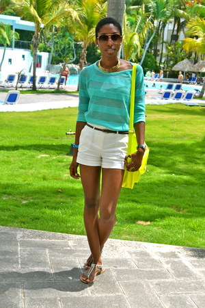 aquamarine Forever 21 sweater - white Forever 21 shorts