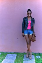black Zabba Woman jacket - hot pink Love Culture top