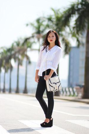 Rebecca Minkoff bag - Zara pants - Michael Kors blouse
