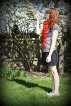 American Apparel skirt - Arizona Jean co shirt - rummage sale shoes -  scarf