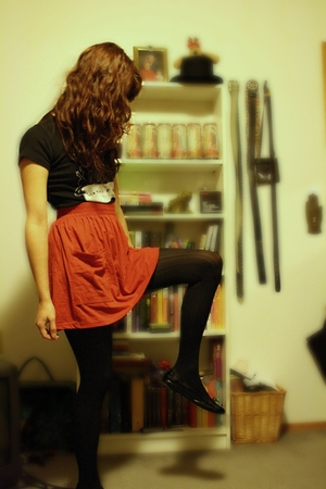 American Apparel skirt - Drugstore tights - Global Exchange shirt - shoes - Gap