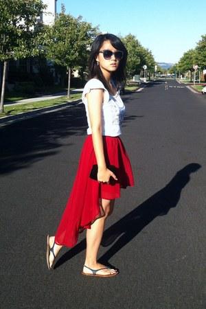 Forever 21 skirt - Old Navy sunglasses - Gap sandals