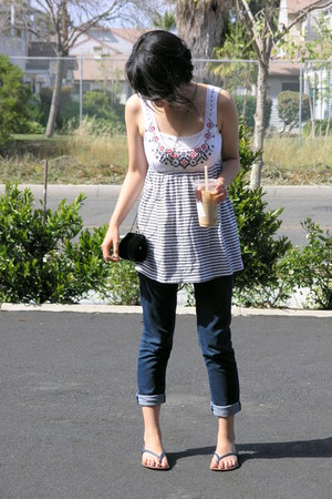 Anthropologie blouse - Old Navy sunglasses - Gap sandals