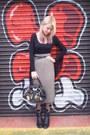 Black-vintage-dandy-dolls-bag-camel-knitted-tube-vintage-skirt