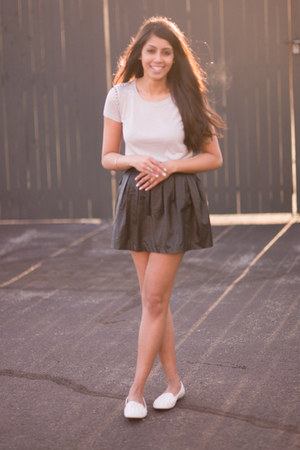 black Forever21 skirt - tan Forever21 top